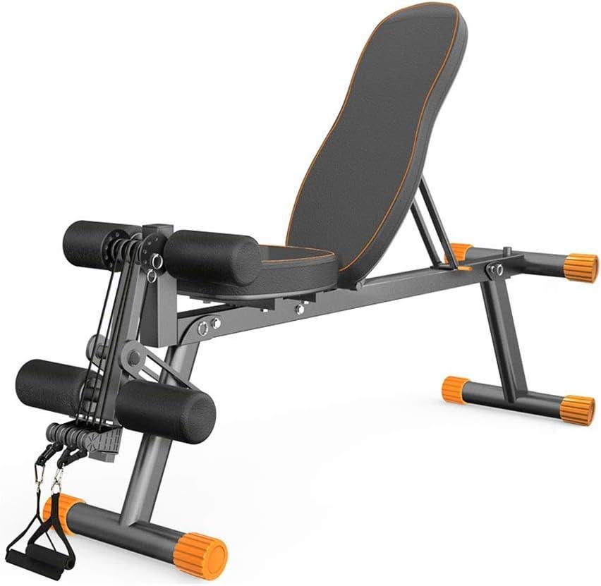Bancos ajustables Banco de pesas plegable banco con mancuernas press de banca carga 300 kg silla de ejercicios auxiliar equipo de gimnasio multifuncional Bancos (Color : Black , Size : 141*38*49cm) : Amazon.es: Hogar