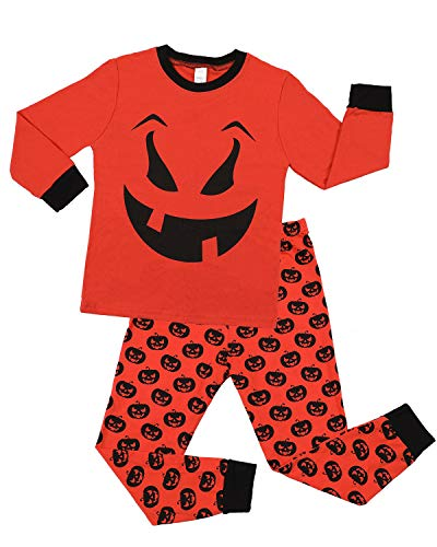 ALove Halloween Pajamas for Boys Pumpkin Cotton Pjs Children Sleepwear -