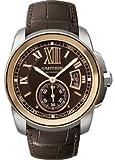 Cartier Calibre de Cartier Brown Dial Pink Gold Bezel Automatic Mens Watch W7...