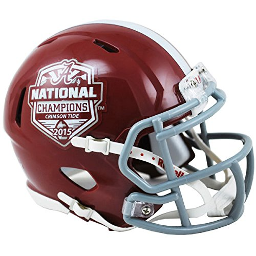 NCAA Alabama Crimson Tide 2015 National Champions Speed Replica, Full Size, Black by Riddell