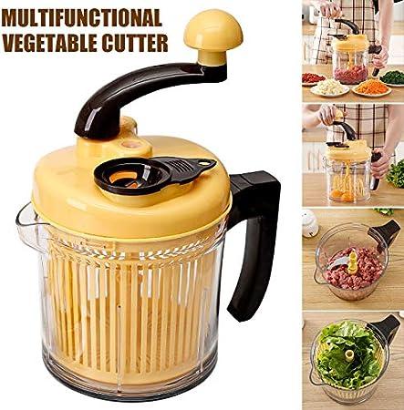 Kafengf - Robot de Cocina con manivela, Mezclador de Huevos, picadora Manual, picadora de Frutas, picadora de Verduras para el hogar: Amazon.es