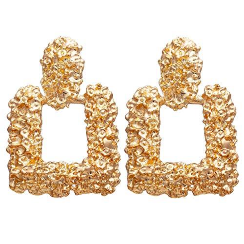 14k Gold Charm Butterfly Designed - Women's Stainless Steel Long Clear Cubic Stud Earring Rectangle Earrings Hollow Butterfly Pendant Earring
