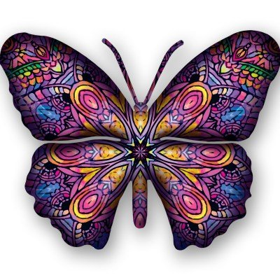 Next Innovations Steel Butterfly Wall Decor, Patchouli