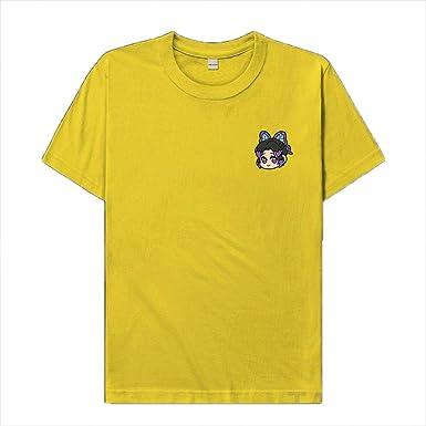 Demon Slayer Kimetsu No Yaiba Anime T-Camisas,Estampado Cuello Redondo Algodón Kochou Shinobu Camiseta De Manga Corta para Unisex-Amarillo XL: Amazon.es: Ropa y accesorios