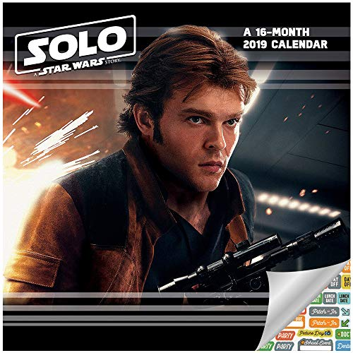 Star Wars - Solo Mini Calendar 2019 Set - Deluxe 2019 Solo A Star Wars Story Small Wall Calendar with Over 100 Calendar Stickers (Star Wars Room and Office Decor)