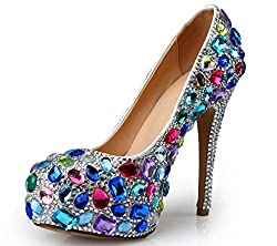 Stained Glass Diamond High Heels