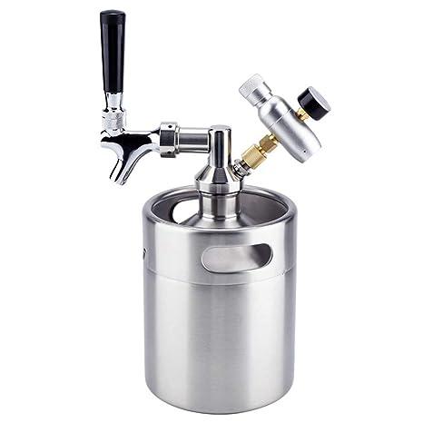 ZYRAY Growler presurizado, Mini Barril de Cerveza de Acero ...