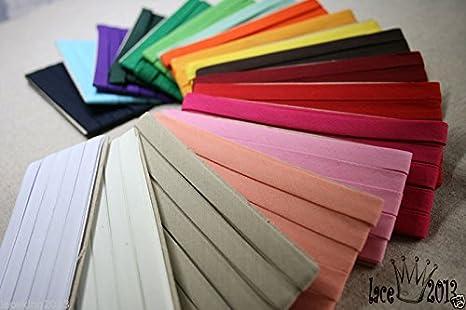 30Yds Bias Tape Poly Cotton trim 10mm Solid colour double fold (Mint) P&M textile