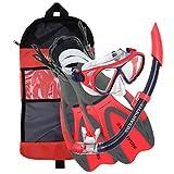 #10: U.S. Divers Dorado Mask, Proflex Fins and Sea Breeze Snorkel Combo Set