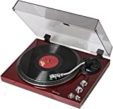 TechPlay TCP4530 Analog Turntable with Built-in Phono Pre-Amplifier, by-Pass Selecter, Auto-Return, Aluminum Platter