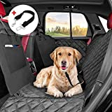 KYG Dog Car Seat Cover Waterproof Car Seat Protector Dog Car Hammock with Mesh Window Backseat Dog Cover Non-slip Pet Travel Hammock for Cars Trucks SUV