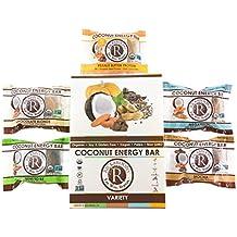 Rickaroons Variety Pack Vegan, Gluten Free, Organic Coconut Energy Bars, 1.6 Ounce (12 Count)