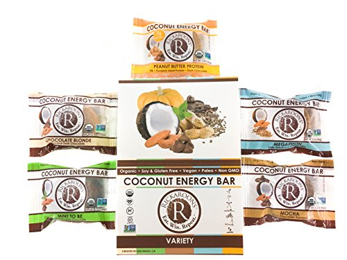Rickaroons Coconut Energy Bars (Variety Pack) – Vegan, Gluten Free, Organic, 1.6 Ounce (12 Count) Review