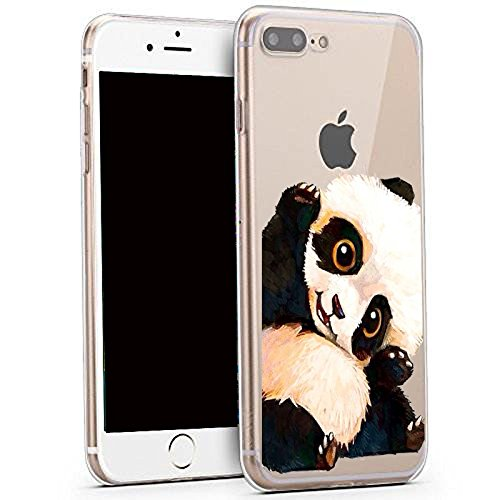 reputable site b4253 a0efb iPhone 8 Plus Case ,iPhone 7 Plus Case, Cute Animal Design Slim Fit Soft  TPU Protective Cover with Funny Pattern Thin Clear Skin Gift Novelty Bumper  ...