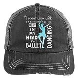 I'm Dancing Ballet Hat, I'm Listening To You Trucker Cap (Trucker Cap - Black)