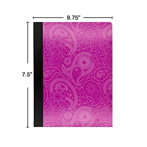 Emraw Paisley Composition Book College Ruled Paper Office Dairy Note Books 100 Sheet Journals Meeting Notebook Hard Covers Pack Of 6 Writing Book For school by Emraw (Image #1)