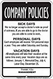 Employees-Company-Policies-Funny-Sign--Great-Break-Room-Decor