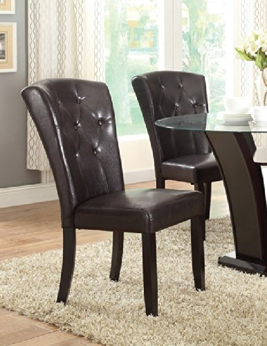 Poundex PDEX-F1356 Dining Chairs, Brown