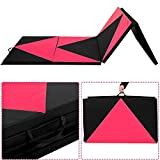 Giantex 4'x10'x2 Thick Folding Panel Gymnastics Mat Gym Fitness Exercise Pink/black by Vympel