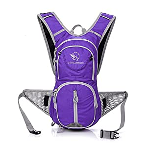 KUKOME Waterproof Outdoor Sports Backpack Shoulder Belt Bag for Biking Cycling Traveling Camping Hiking outdoor travel Hydration Pack(Purple)