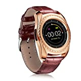 Sinfu Smart Watch for 1PC TQ912 Heart Rate Blood Pressure Monitor Slot Wrist Waterproof Bluetooth Smart Watch (Gold)