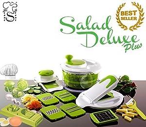 Salad Delux Plus TV Salatschleuder / Küchenreibe + Eierschneider +...