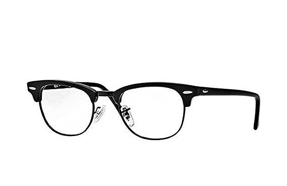 3d92d9cff2f6 Ray-Ban RX 5154 Clubmaster Eyeglasses Matte Black 49mm & Cleaning Kit Bundle