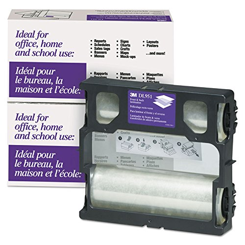 3M Scotch DL951 Glossy Refill Rolls for Heat-Free Laminating Machines,100 -
