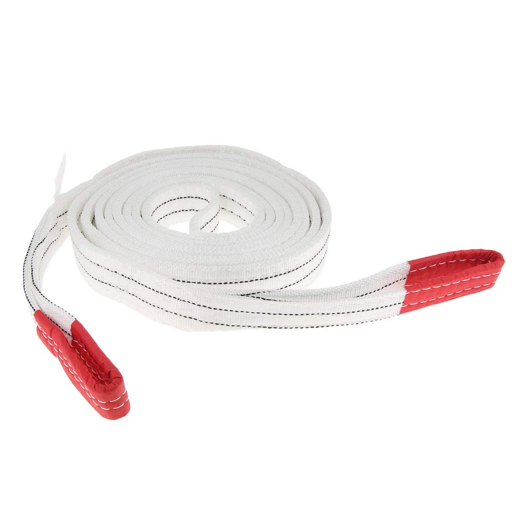 1 Meter Homyl Lifting Strap Towing Pull Rope Cable W//Loops 4400lbs