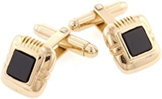 product image for JJ Weston Discreet Sized Onyx Cufflinks. Made in the USA.