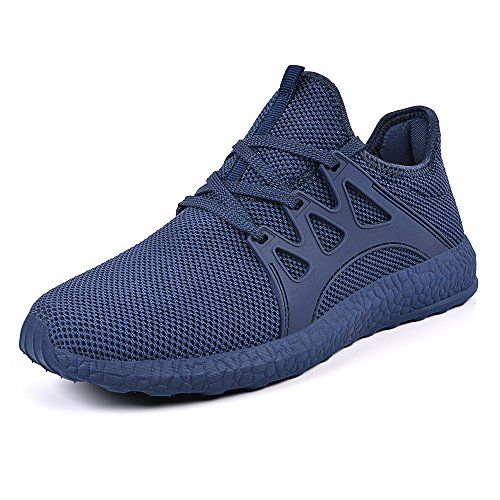 Mxson Men's Casual Sneakers Ultra Lightweight Breathable Mesh Sport Walking Running Shoes, Blue, 11 D(M) US
