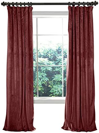 COFTY Solid Matt Luxury Heavyweight Velvet Curtain Drape