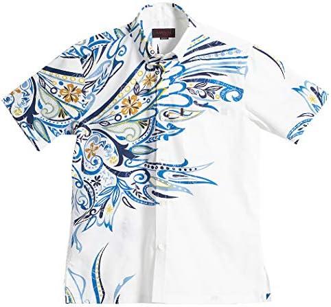 [MAJUN (マジュン)] 国産シャツ かりゆしウェア アロハシャツ 結婚式 メンズ 半袖シャツ ボタンダウン コロナアークラ