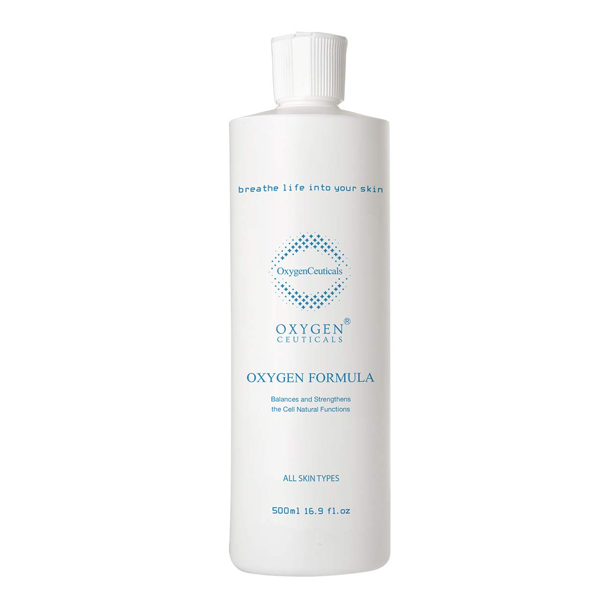 Oxygen Formula, Oxygen Facial Professional Grade Liquid Serum for Face, 500 ml/16.9 oz