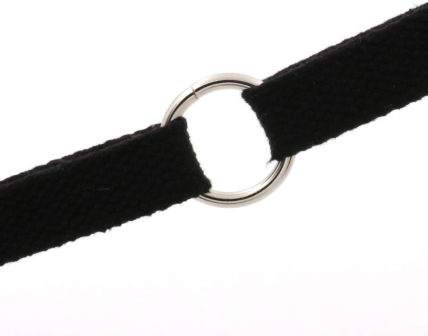 Shoes and Belt Straps Collars BIKICOCO 1 Metal O Ring Purse Connector Round Loop Buckles Non Welded for Bags Pack of 10 Silver