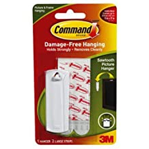 Command Sawtooth Picture Hanger, White, 1-Hanger (17040ES)
