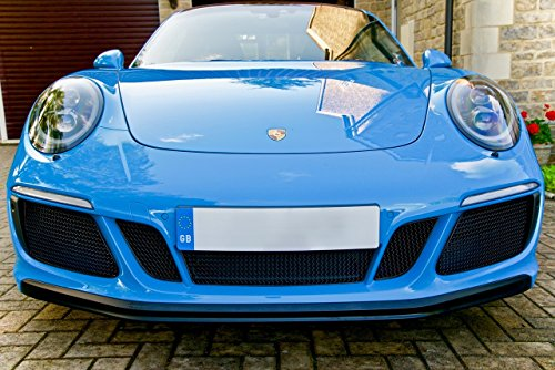 Zunsport Compatible with Porsche Carrera 991.2 GTS - Full Grille Set - Black Finish (2017 to 2018)