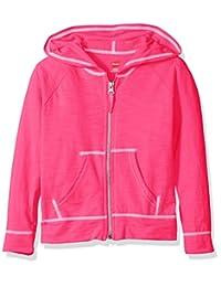 Hanes girls Little Girls Slub Jersey Full Zip Jacket