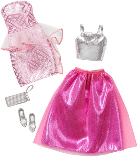 - Barbie Fashion 2 Pack Fancy - Pink & Silver