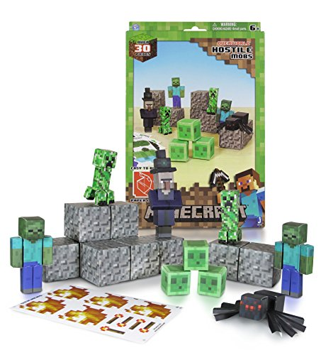 Minecraft Papercraft Hostile Mobs Set, Over 30 Piece -