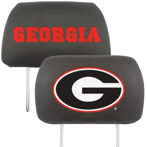 CC Sports Decor NCAA University of Georgia Bulldogs Head Rest Cover Automotive Accessory