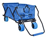 Impact Canopy Folding Utility Wagon, Collapsible, All Terrain Beach Wagon, Extra Large, Royal Blue