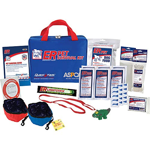 ER Emergency Ready Deluxe Pet Survival Kit for One Dog, - Kit Survival Pet