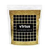 v1rtus Gold Glitter Grout Tile Additive 100g / 3.5oz for Wet Room Bathroom Kitchen Sparkle, Easy to use - Add/Mix with Epoxy Resin or Cement Based Grout - Heat Resistant - Colour Fast - Non Rust