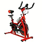 NEW Xspec Pro Stationary Upright Exercise Bike Indoor Cycling Bicycle (red) Xspec