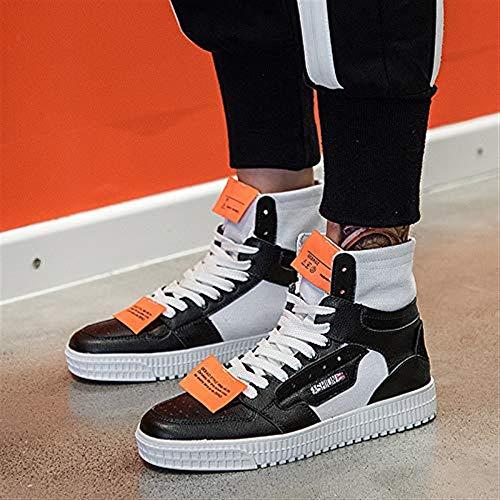 Length color Eeayyygch Street Dance 6uk Hip foot 25 Estilo Board Transpirable Harajuku Tamaño Zapatos Para hop Hombre 5cm Lona De Con Casual Cordones Blanco Negro Trend rqBTCwr