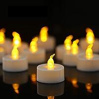 YIWER 100 unidades LED Velas Velas CR2032 pilas velas sin llama,Velas de té,Velas LED,Velas parpadeantes sin Llama,Velas…