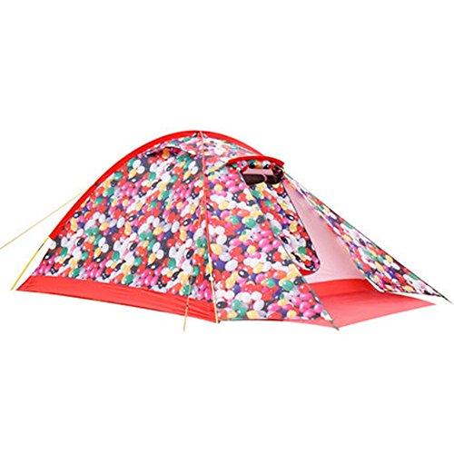 徹底的に調整する旋律的マ?チョン テント 3-4人のカップルの家族キャンプの外出テントパークレジャーポータブル (色 : B)