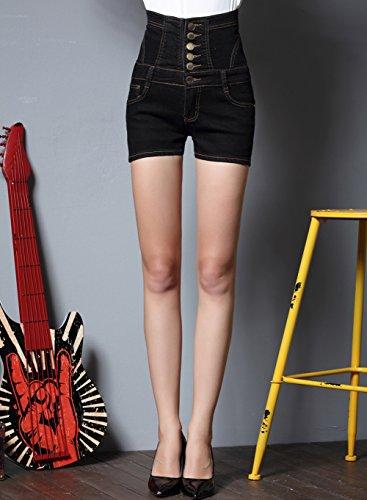 Jeans Hotpants Club ogni Nero Sexy Vita Bar feste Corto Donna Viaggi Shorts Spiaggia Denim TieNew Alta Donna Estate per serate Pantaloncini Casual Elegante in 2018 Casual occasione Donna Shorts Jean ideali F1A1xOYn