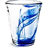 Bormioli Rocco Murano 14.875 oz. Drink Glasses, Long, Blue, Set of 12
